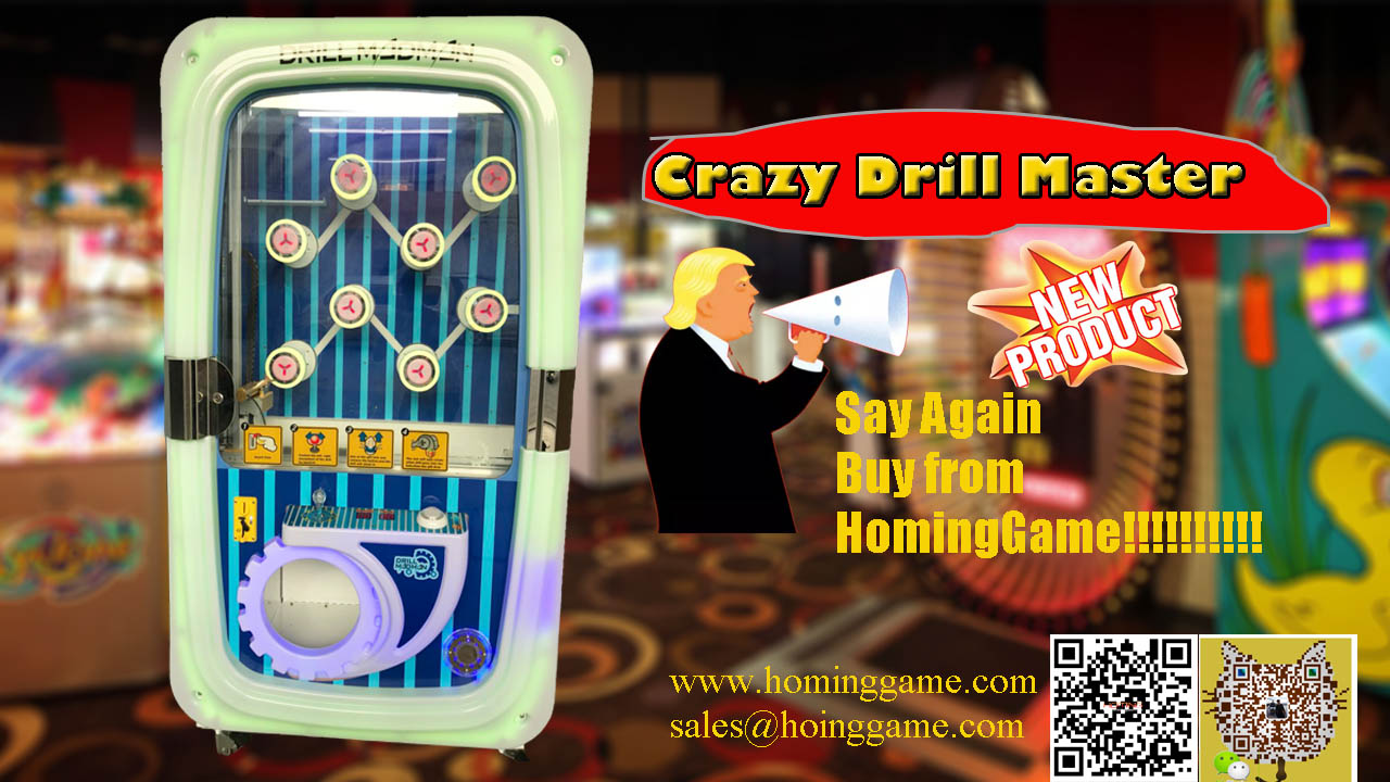 Crazy Drill Master Prize Redemption Game,Screw Driver Arcade Machine,screw driver prize game machine,drill master prize game machine,game machine,arcade game machine,coin operated game machine,prize vending machine,vending game machine,key master prize game machine,key prize game machine,amusement park game machine,entertainment game machine,prize redemption game machine,kids game machine,kids game equipment,slot game machine